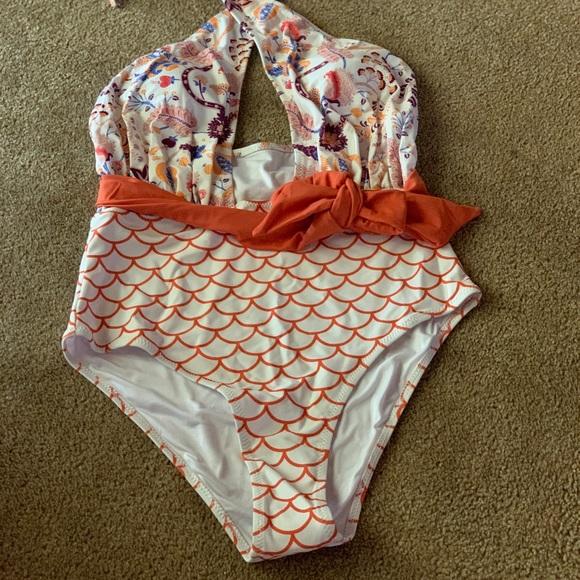 0c95bf4070 Cupshe Swim   Brand New Orange Dream Wrap Onepiece M   Poshmark